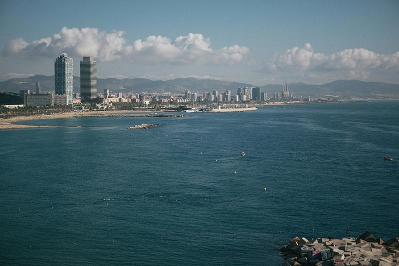 barcelona-coast-line