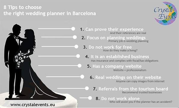 Tips To Choosing The Right Wedding Planner In Barcelona Crystal Events