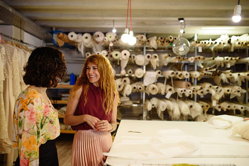 Imma Cle and Laura in her atelier
