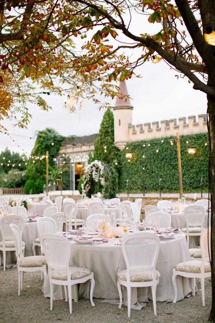Dreamy reception at Castell de Sant Marçal