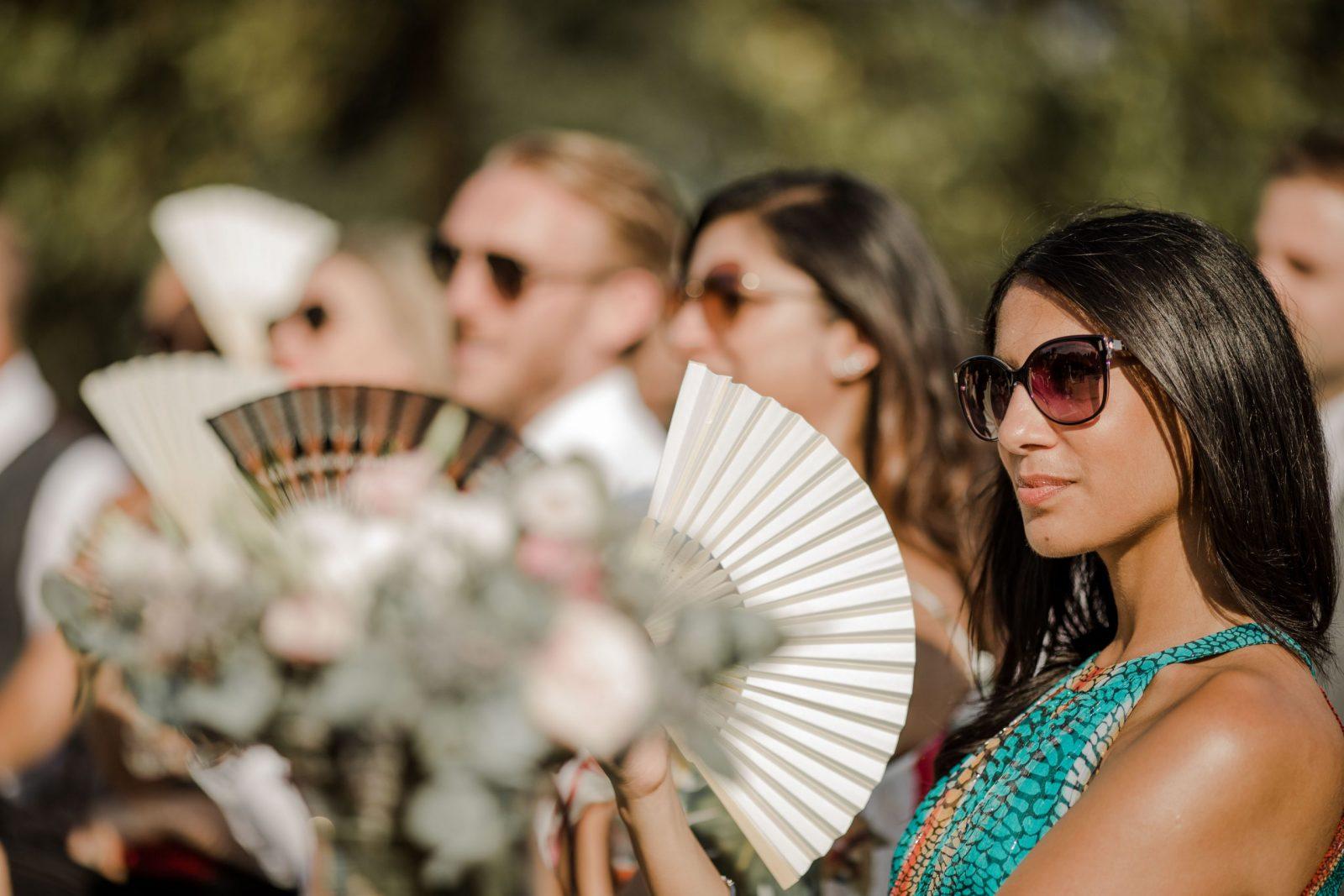 Elegant guests enjoying the Spanish sun!
