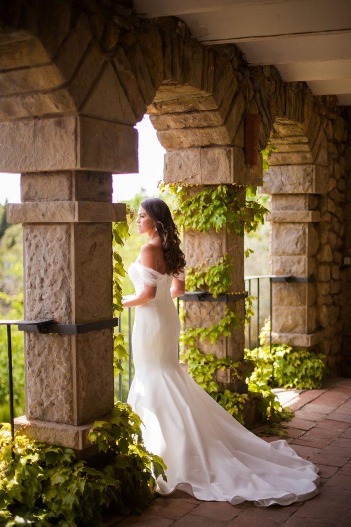 Beautiful bride in her Vera Wang Dress