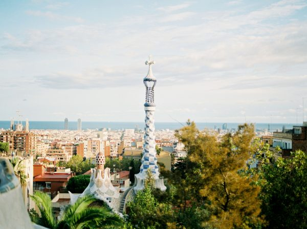 Beautiful Gaudi architecture in Barcelona, Spain