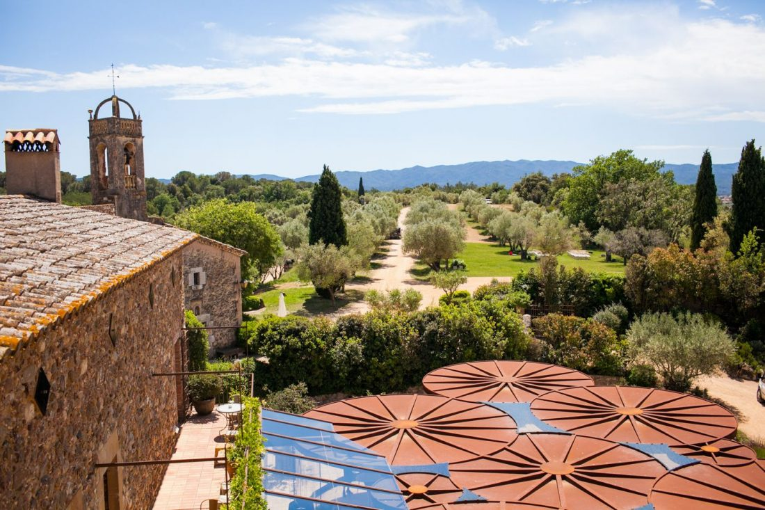 Rolling countryside of the Costa Brava